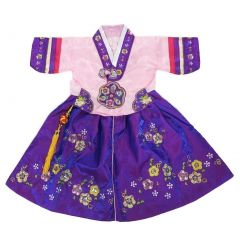Wenchoice Little Girls Pink Purple Korean Robe Style Dress 24M-8