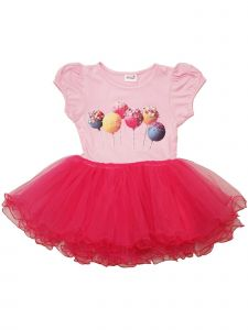 Wenchoice Girls Pink Hot Pink Lollipop Print Ruffle Tutu Dress 9M-8