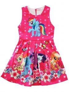 Wenchoice Girls Hot Pink My Little Pony Friends Forever A-Line Dress 9M-8