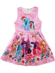 Wenchoice Girls Pink My Little Pony Friends Forever A-Line Dress 9M-8