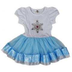 Wenchoice Girls Blue White Silver Snowflake Birthday Dress S (9-24M)-XL (6-8)