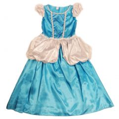 Wenchoice Girls Blue White Glitter Scroll Cinderella Dress S (4-6)-L (10-12)