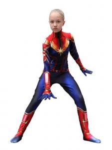 Wenchoice Girls Blue Red Surprise Captain Marvel Halloween Costume 4-12
