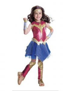 Wenchoice Girls Multi Color Wonder Woman Deluxe Halloween Costume 4-12