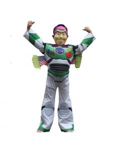 Wenchoice Boys Multi Color Toy Story Buzz Lightyear Halloween Costume 4-12