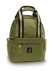 Danshuz Army Green Gilded Two-Fer Bag Purse