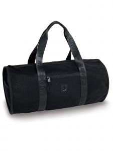 Danshuz Black Honeycomb Duffel Bag Purse