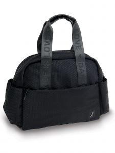Danshuz Black Honeycomb Tote Backpack