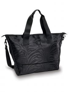Danshuz Black Jacquard Zebra Tote Bag Purse