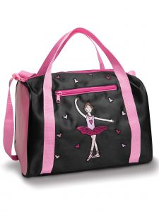 Danshuz Black Pink Geena Ballerina Heart Bag Purse