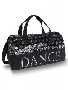 Danshuz Black Silver Sequin Dance Stars Bag Purse