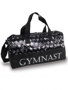 Danshuz Black Silver Sequin Gymnastic Star Bag Purse