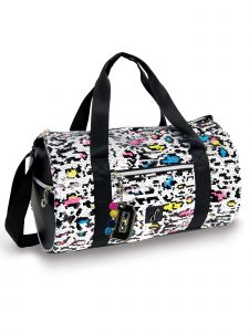 Danshuz Techno Neon Cheetah Duffel Bag Purse