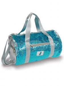 Danshuz Turquoise Mermaid Sequin Duffle Bag Purse