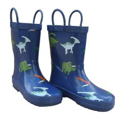 Blue Dinosaurs Toddler Boys Rain Boots 5-10