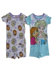 Disney Little Girls Blue Frozen 2pack Top Shorts 2pc Pajama Set 8-10