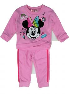 Disney Little Girls Pink Minnie Side Wrap Sweatshirt 2 Pc Jogger Set 2-3T