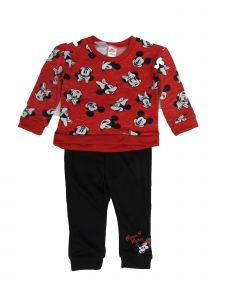 Disney Little Girls Red Minnie Small Version Sweatshirt 2 Pc Jogger Set 2-4T