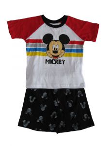 Disney Little Boys White Red Black Mickey Mouse Short Sleeve Outfit 2T-4T