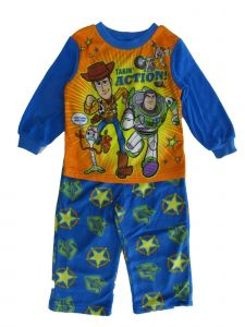 Disney Little Boys Blue Orange Toy Story 4 Long Sleeve Pajama 2pc Set 2T-4T