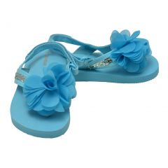 L`Amour Little Girls Blue Sequin Eva Foam Sandals 5-10 Toddler