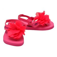 L`Amour Little Girls Fuchsia Sequin Eva Foam Sandals 5-10 Toddler