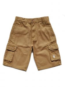 English Laundry Big Boys Khaki Multi Pockets Twill Cotton Cargo Shorts 10