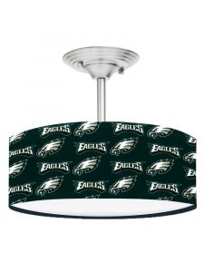 Hunter Green Philadelphia Eagles Football 13 Inches Ceiling Mount Light Fixture
