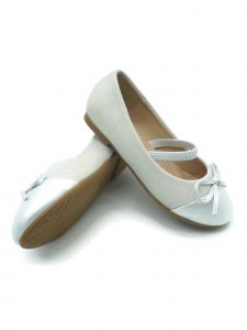Pipiolo Little Girls White Bow Elastic Strap Mary Jane Shoes 4-10 Toddler