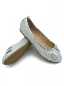 Pipiolo Girls Silver Glitter Elastic Strap Mary Jane Shoes 13.5 Kids