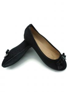 Pipiolo Girls Black Glitter Elastic Strap Mary Jane Shoes 11-3 Kids
