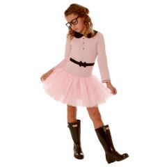Ooh! La La! Couture Baby Girls Pink Peter Pan Collar Mary Jane Dress 12-24M