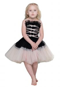 Ooh! La! La! Baby Girls Black Champagne Profiterole Noir Christmas Dress 24M