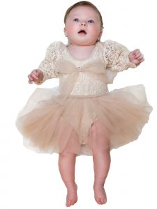Ooh! La! La! Baby Girls Champagne Meringue Christmas Tutu Romper Dress 6-12M