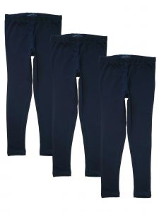 French Toast Big Girls Navy Solid 3 Pack Basic Legging Set 7-14
