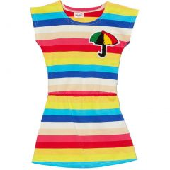 Wenchoice Little Girls Multi Color Rainbow Stripes Umbrella Polo Dress 24M-8
