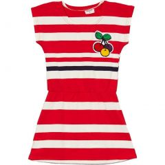 Wenchoice Little Girls Red Stripes Cherry Polo Dress 24M-8
