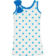 Wenchoice Little Girls Navy Polka Dots Bow Sleeveless Dress 24M-8