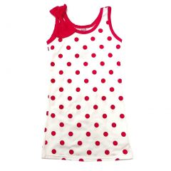 Wenchoice Little Girls Hot Pink Polka Dots Bow Sleeveless Dress 24M-8