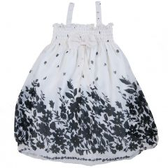 Wenchoice Little Girls Black White Leaves Chiffon Baby Doll Dress 24M-8