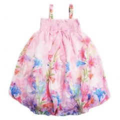 Wenchoice Little Girls Pink Lily Straps Bow Chiffon Baby Doll Dress 24M-8
