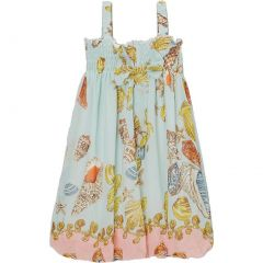 Wenchoice Little Girls Teal Shellfish Straps Chiffon Baby Doll Dress 24M-8
