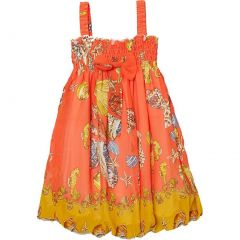 Wenchoice Little Girls Orange Shellfish Straps Chiffon Baby Doll Dress 24M-8