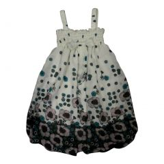 Wenchoice Little Girls Black White Floral Print Chiffon Baby Doll Dress 24M-8