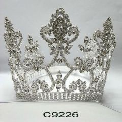 Girls Silver Marquis Pageant Quinceanera Communion Crown Headpiece
