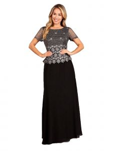 Fanny Fashion Womens Multi Color Pleated Embellished Bodice Evening Gown M-4XL
