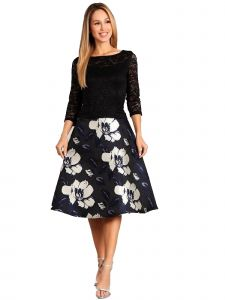 Fanny Fashion Womens Multi Color Floral Print Skirt Evening Gown S-XXXL