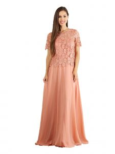 Fanny Fashion Multi Color Lace Evening Gown S-4XL