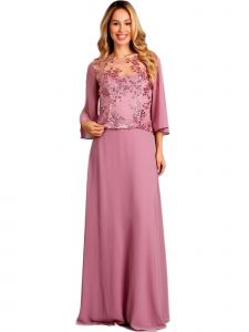 Fanny Fashion Womens Purple Sequin Overlay Evening Gown S-4XL