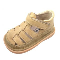 Mooshu Trainers Boys Tan Fisherman Lined Squeaky Sandals 3 Baby-9 Toddler